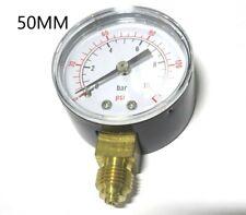 PRESSURE GAUGE AIR OIL WATER 0-10bar 0-150psi 50mm DIAL HYDRAULIC PNEUMATIC