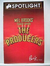 THE PRODUCERS Playbill TONY DANZA / LARRY RABEN / LEE ROY REAMS Las Vegas 2007
