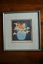 John Hall Thorpe - Signed Woodcut Crocuses and Snowdrops