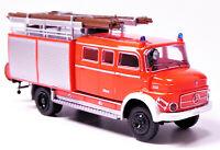 H0 BREKINA Mercedes Benz MB LAF 1113 TLF 16 Löschfahrzeug tagesleuchtrot# 47138