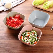 Plastic Food-Grade Square Fruit Snack Candy Salad Bowl Plate Dish Basket 3Colors