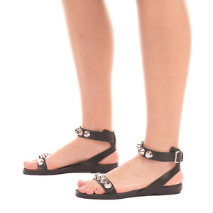RRP €150 VIC MATIE Leather Ankle Strap Sandals Size 38 UK 5 US 8 Made in Italy