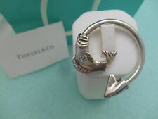 Tiffany & Co. Fish Themed Solid Sterling Silver Key Chain Ring -Very Rare!