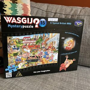 Wasgij Jigsaw Puzzle 1000 Piece Mystery #15 Holdson Family A Typical British BBQ