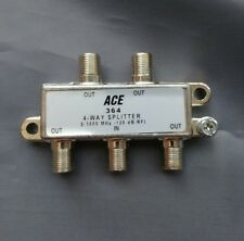 (2 PCS) 4-Way 5-1000MHz Cable TV Antenna Splitter