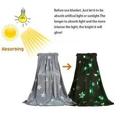 Throw Blanket Soft Flannel Warm Throws Kids Children Bed Sofa Grey 100*150cm