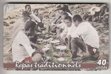 POLYNESIE TELECARTE / PHONECARD .. PF148 40U REPAS TRADITION CHIP/PUCE NEW 2004