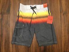 NEW Men's Board Shorts Ombre Stripe Orange Mossimo Supply Co. Size 36