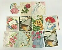 Vintage Wedding Bridal Shower Greeting Card Lot Scrapbooking Crafts Ephemera