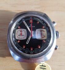 vintage edox sportsman chronograph, valjoux 7733