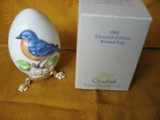 Blue Bird Goebel Porcelain Egg Display Stand Box 11th Edition 1988 Box Spring