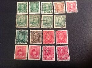 CANADA 1932-1935 KING GEORGE V USED STAMPS