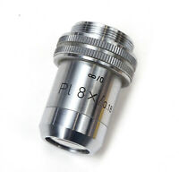 Microscope Objective Leitz Wetzlar Germany PL 8x/0.18 Infinity Optics Lens