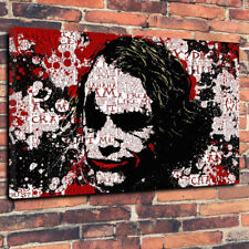 "Astratto JOKER BATMAN STAMPA DI FOTO SU TELA A1.30""x20"" 30 mm Deep Wall Art"