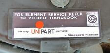 Unipart Coopers Element Air Filter Box Sticker Austin Morris Mini Clubman Marina