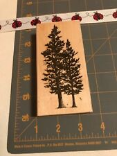 Stampscapes Rubber Stamp 1993 Spruce Tree Lg 078F