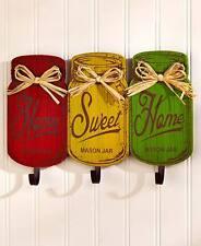 Vintage Retro Colorful Mason Jar Shaped Wall Hooks Nostalgic Old Fashion Hangers
