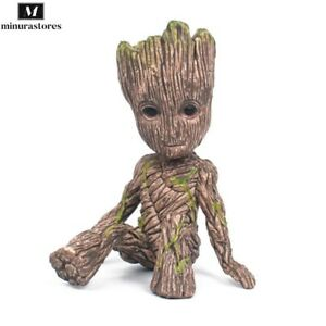 Mini Sitting Groot Action Figure Model Marvel Avengers Guardians Of The Galaxy