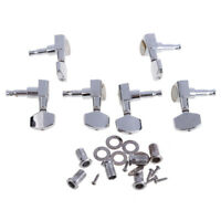 6 Chrome Guitar String Tuning Pegs Tuners Machine Heads Acoustic Electric #GB