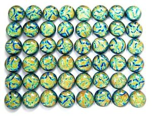 TINY Lot 48 pcs DICHROIC earrings FUSED GLASS (C11) mosaic cabochons handmade