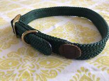 Double Braid Dog Collar Green
