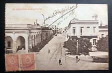 1919 Paraguay Rppc Postcard cover To Buenos Aires Argentina Colon Street View