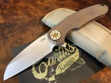 Curtiss Knives F3 Large WH/FR Wharny Frag Pattern Bronze Titanium Hardware