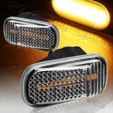 For 2001-2009 Honda Civic Black/Clear Amber LED Turn Signal Side Marker Lights