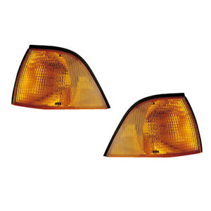 Parking Corner Signal Lights Pair Set for 92-99 BMW 3 Series E36 Coupe