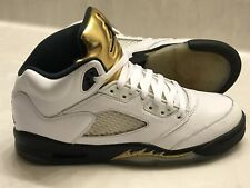 new arrivals bd261 60582 Nike Air Jordan 5 Retro 2016 Olympic Gold Medal Coin Sneakers GS Sz 7Y  440888133