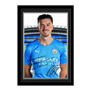 Personalised Jack Grealish Message Autograph Photo Manchester City Man Fan Gift