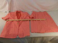 Adult Women's Requirements Peach Blazer & Skirt 2 Piece Combo Work Suit 34039