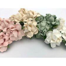 "1"" or 2.5 cm Mixed Small Pastel DIY Paper Flower Wedding Scrapbook Rose R19/596"