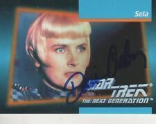 "DENISE CROSBY SIGNED 1992 IMPEL #28 ""STAR TREK"" TNG @35 - COMMANDER SELA"
