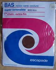bas neuf vintage ESCAPADE marron taille 2