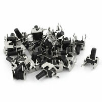 25 Pcs 6x6x10mm PCB Mount Momentary 2Pin Right Angle Push Button Tactile Switch
