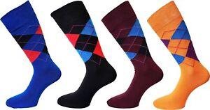 New Fashion Men Women Argyle Check Soft Cotton Mid Calf Ankle Socks UK 6-11