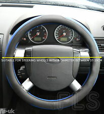 PEUGEOT FAUX LEATHER BLACK/BLUE STEERING WHEEL COVER
