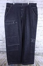 Marithe Francois Girbaud 45 X 32 Urban Streetwear Black Denim Jeans Rave Goth