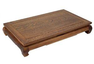 "16x10x3.2"" Wenge Wood Display Stand Shelf Table Bonsai Suiseki Stone Rack Decor"