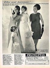 PUBLICITE ADVERTISING 045  1964  PRONUPTIA   robe de mariée