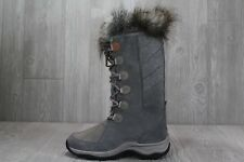 36 Women's Clarks Wintry Hi Tall Temps -20 C Grey Suede Winter Boots 7 - 9.5