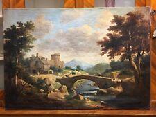 Antico dipinto paesaggio olio su tela '800-antiquandogenova-