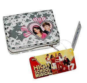 DISNEY High School Musical Portfolio Girls Wallet Zip Section Pockets 11cm x 9cm