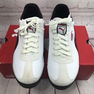 Puma Roma SL NBK 2 Wild Athletic Casual Shoe White Black/Red Accents Size 10 Men