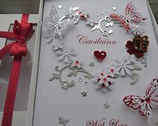 Handmade Personalised 3D Luxury Birthday Card Any Age / Mother`s Day GIFT BOX