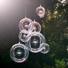 20pc Transparent DIY Fillable Christmas Baubles Clear Balls 10cm 8cm Xmas Decor