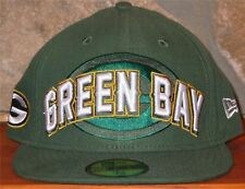 NFL Green Bay Packers New Era 59Fity Snug Fitted 2012 Draft Hat Size 7 1/4 Green