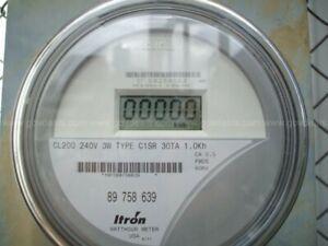 ZERO RESET Itron / Centron Watthour Electric Meter C1S C1SR CL200 AMP 240V FM2S