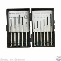 11pc Precision Screwdriver Set | Watch Jewelry Eyeglasses Repair Small Hobby Kit